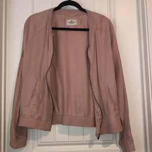 Dusty Pink American Eagle Bomber Jacket